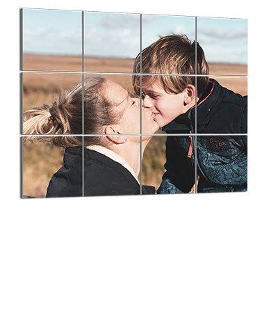 Photo sur plusieurs squares