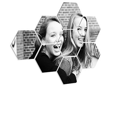 Photo sur plusieurs hexagones