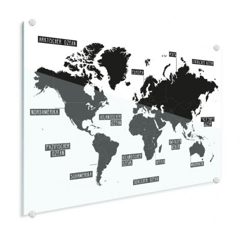 Eenvoudig - zwart wit plexiglas