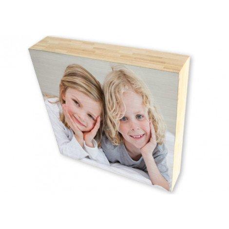 Photo sur cube de bois