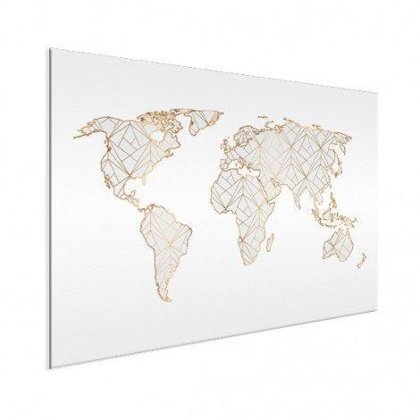Geometrisch goud-lichtgrijs aluminium