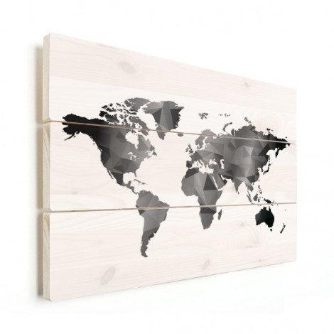 Geometrisch - zwart wit hout