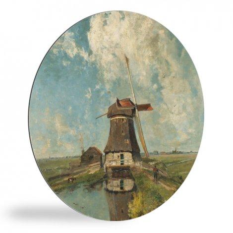 In de maand juli - Schilderij van Paul Joseph Constantin Gabriël wandcirkel