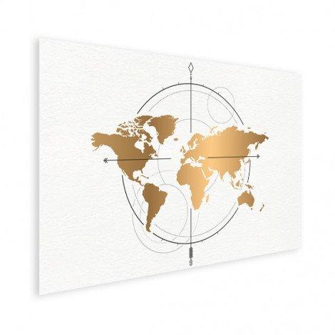 Kompas groot goud poster