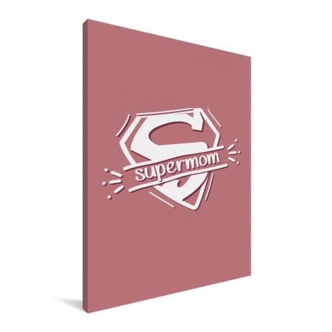 Moederdag - Moederdag cadeau Supermom roze Canvas