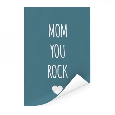 Moederdag - Mom you rock Poster