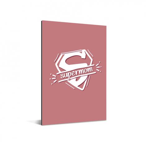 Moederdag - Moederdag cadeau Supermom roze Aluminium