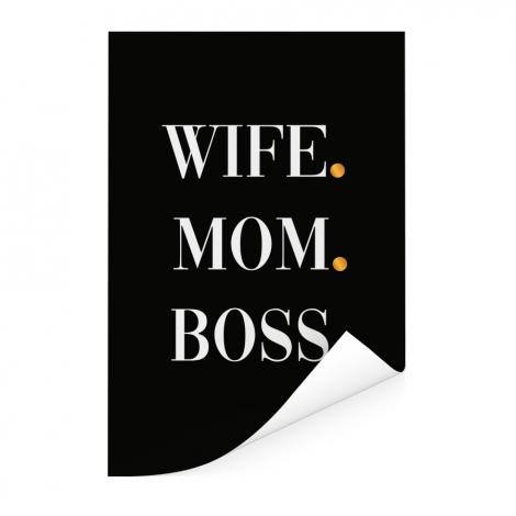 Moederdag - Wife Mom Boss Poster