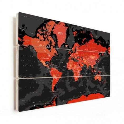 Rood - zwart hout