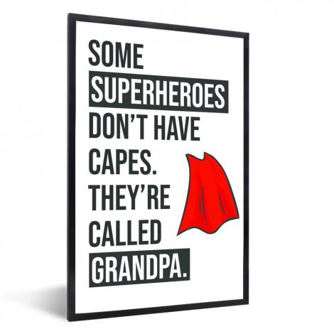 Vaderdag - Cadeau voor opa met tekst - Superheroes Fotolijst