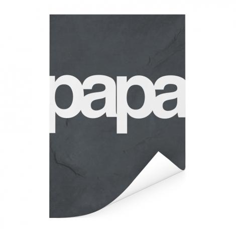Vaderdag - Tekst en marmer - Papa Poster