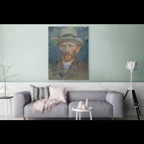 Zelfportret 1887 Schilderij Van Vincent Van Gogh Vurenhout Met Planken Oude Meesters