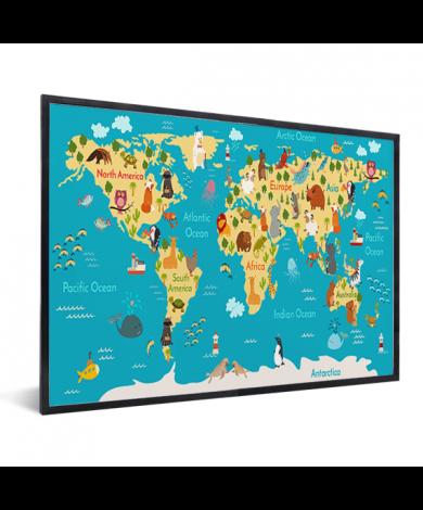 Continenten en zeeën in lijst