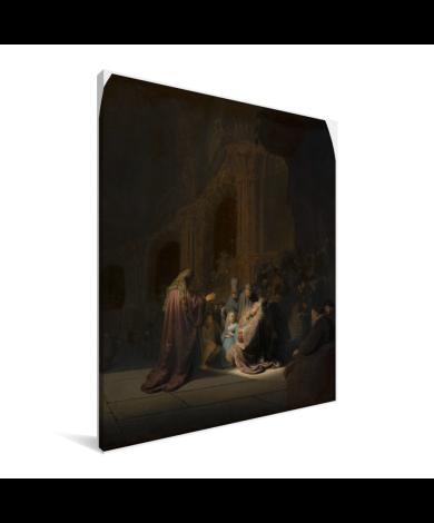 Het loflied van Simeon - Schilderij van Rembrandt van Rijn Canvas