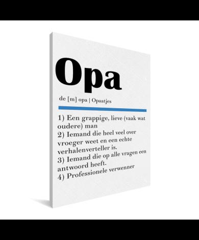 Vaderdag - Definitie Opa Canvas