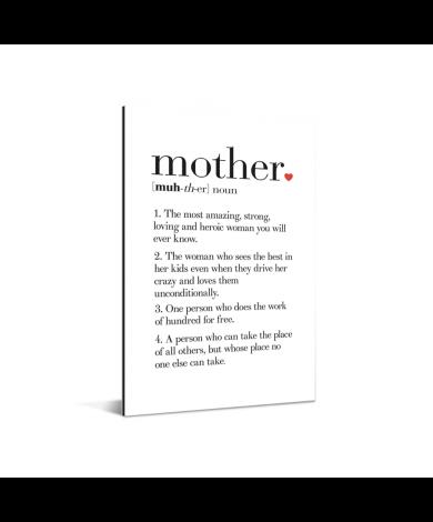 Moederdag - definitie Mother Aluminium