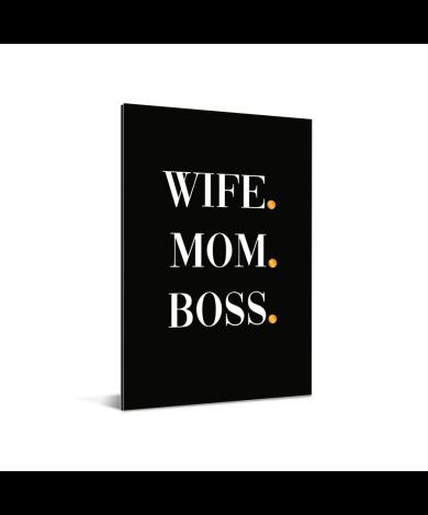 Moederdag - Wife Mom Boss Aluminium