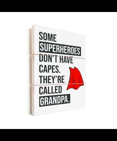 Vaderdag - Cadeau voor opa met tekst - Superheroes Vurenhout
