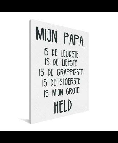 Vaderdag - Mijn papa Canvas
