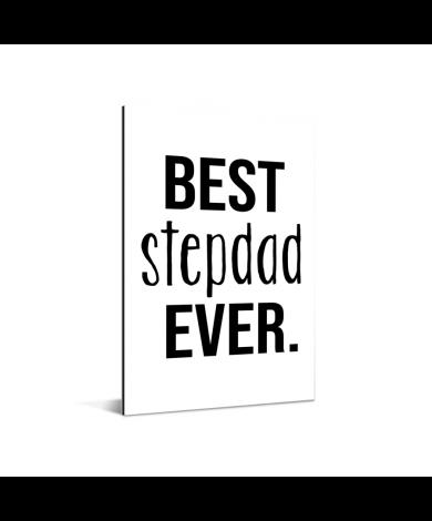 Vaderdag - Best stepdad ever Aluminium