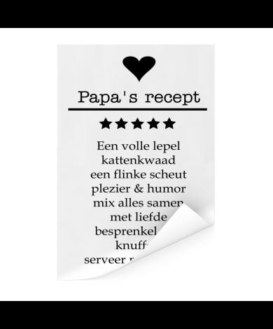Vaderdag - Papa's recept Poster