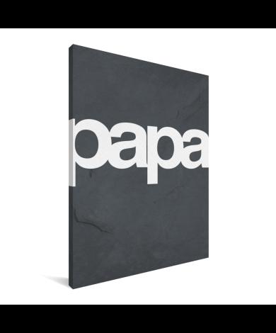 Vaderdag - Tekst en marmer - Papa Canvas