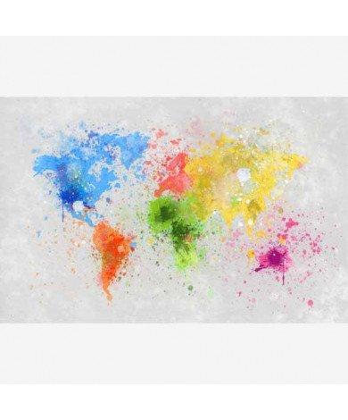 Gekleurde inkt splash poster