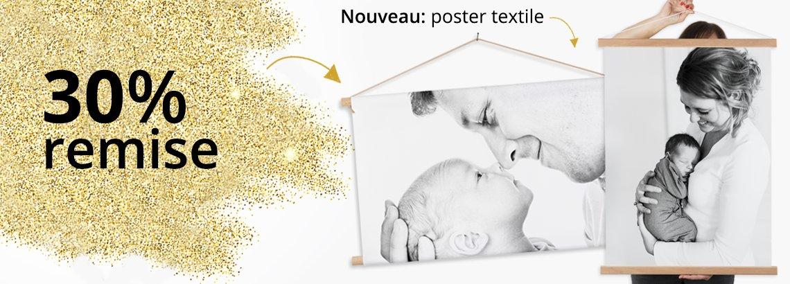 Photo sur poster textile avec de remise