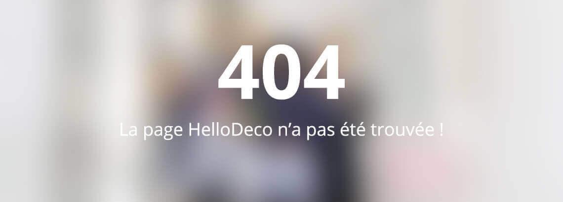 La page HelloDeco n'a pas été trouvée!