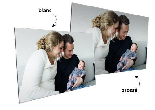 photo sur aluminium blanc brosse
