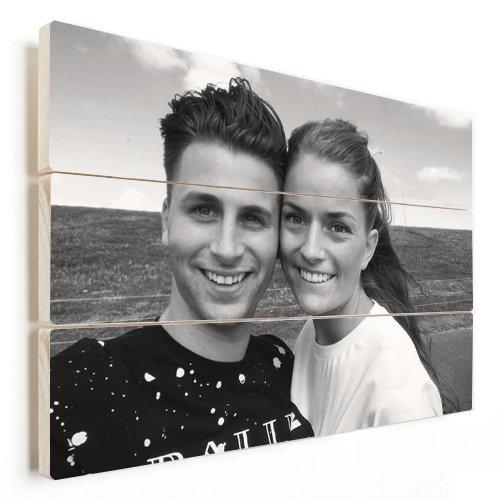 Photo sur bois avec un couple