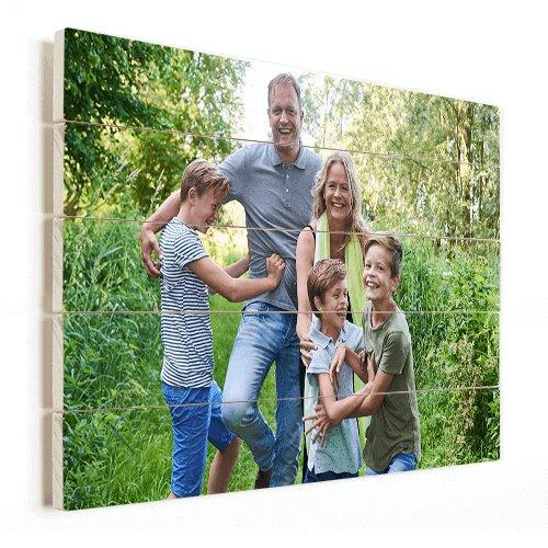 Photo sur planches de bois