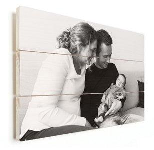 Photo sur bois avec de la famille