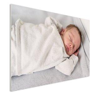 Photo sur contreplaque avec le bebe