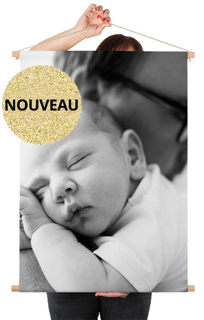 Photo sur poster textile avec un bébé