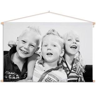 Photo sur poster textile avec famille