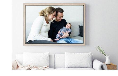 photo sur toile avec un cadre
