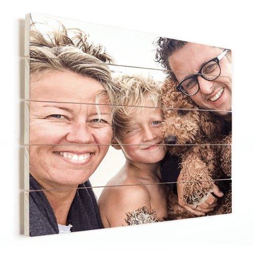 Photo sur bois avec une famille