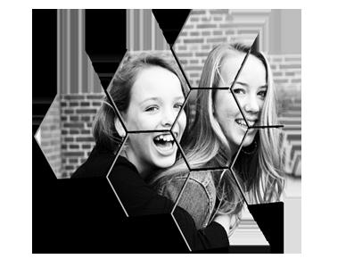 Prix photo sur plusieurs hexagones