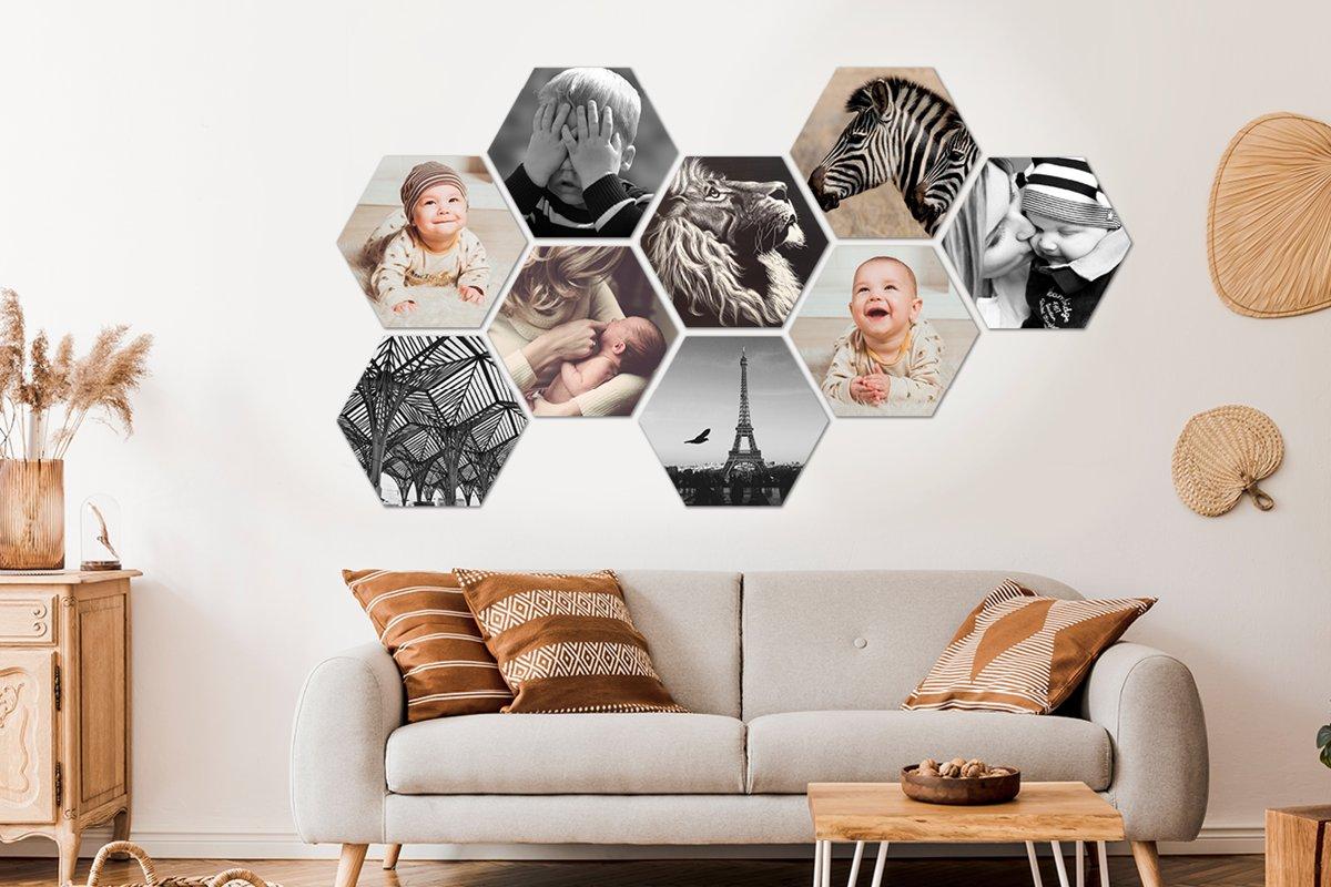 Photo sur hexagone