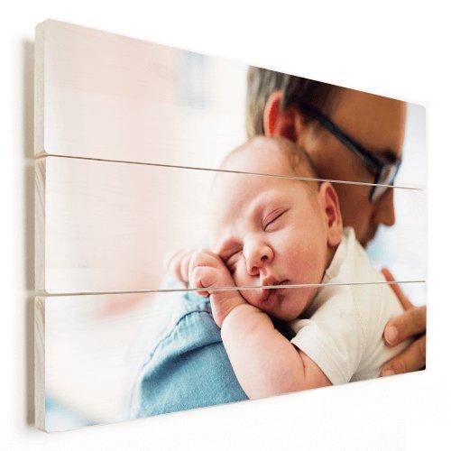 Photo sur bois avec un bébé