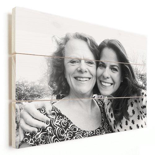 Photo sur bois avec une mère et une fille