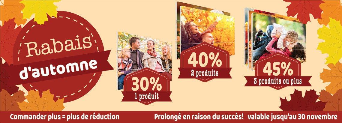 Photo sur bois réduction d'automne